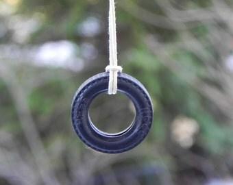 Fairy Garden swing miniature accessories Tire Swing for terrarium, miniature garden, or dollhouse playground