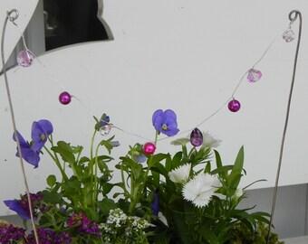 LAST ONE Fairy Garden Accessories miniature fairy garden string of fairy lanterns garland