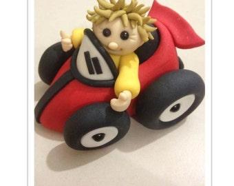 Little Racing Car Cake Topper PDF Tutorial
