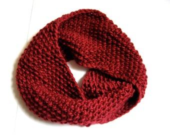 Hand Knit Seed Stitch Cowl