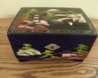 Lacquer Ware Musical Jewelry Box