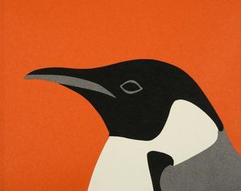 Fine Art Print of Original Paper Collage - Penguin