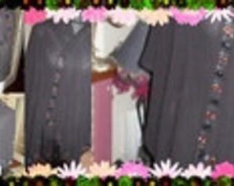 Wrap or shawl in Chenier fabric.