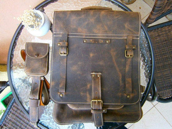 "15 ""Convertible  Lucky Upgraded Banduliera , Biker's Bag, 4-way-to-wear Laptop Leather Handmade bag, Messenger to Banduliera"