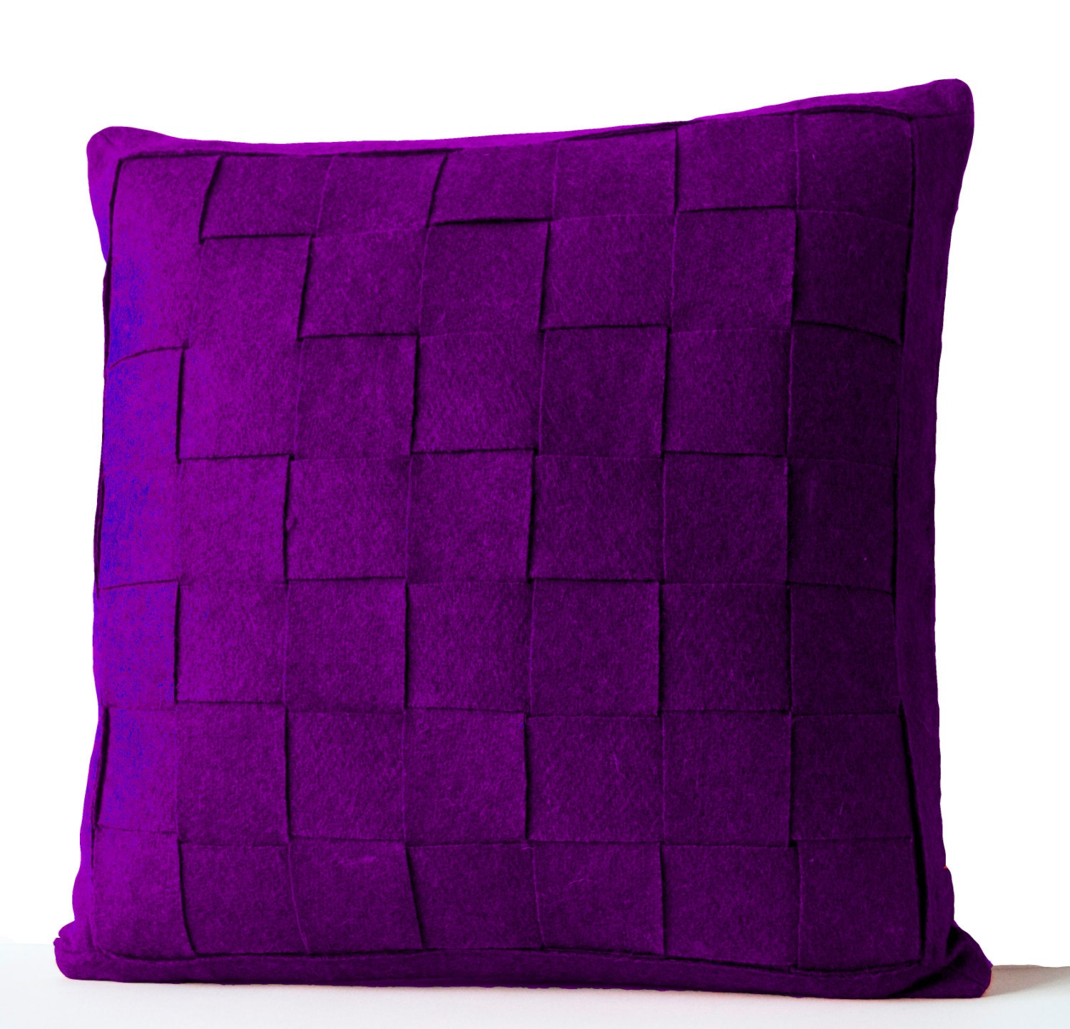 Purple Decorative Pillow : Decorative Pillow Purple Felt Pillow Cushion Throw Pillow