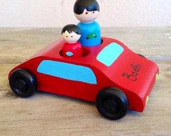 Peg doll car for two dolls-customizable