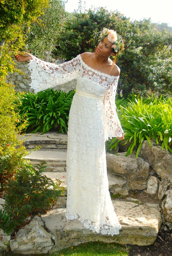 Hippie Bohemian Wedding Dress Los Angeles bohemian wedding dress
