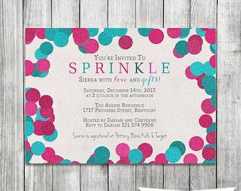 Girl and Boy Baby Sprinkle Invitation - 5x7 JPG PRINTABLE