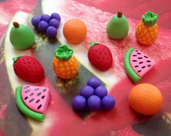 Fondant Fruit Foodie Cupcake - Cake Decorations