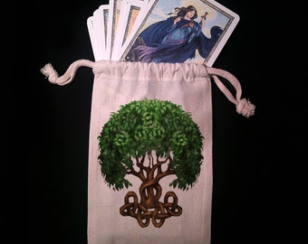Celtic Tree of Life Tarot Bag -  Pagan Wiccan  - Brigid Ashwood