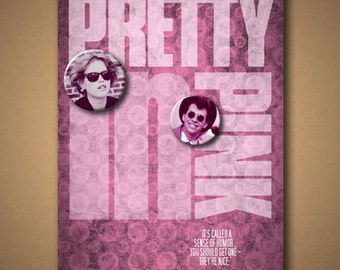 PRETTY IN PINK Movie Quote Poster