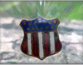 Vintage WWII era Shield Clip/Pin/Badge