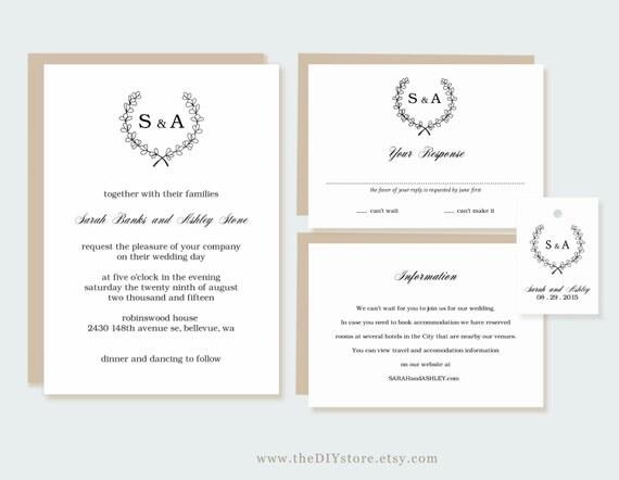 Hochzeit Einladung Collection druckbare, hängen Text editierbar ...