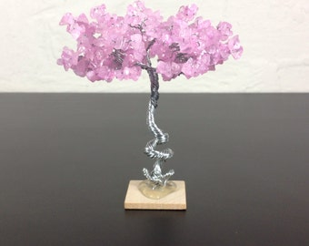 Mini Zen Garden Tree - Rose Quartz