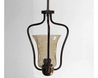 Beautiful art nouveau hanging lamps, from around the 30s