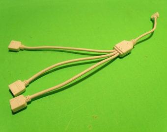 12ʺ 1 to 3 Female Splitter - for RGB LED Strip Light - By Custom LED Kits
