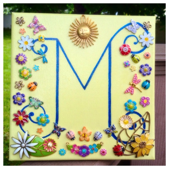 Monogram Letter M Wall Decor Children's Wall Decoration