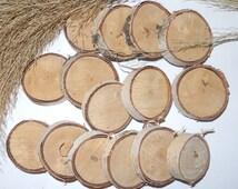 Silver birch...Wood Slice, Birch slices..candlestick natural