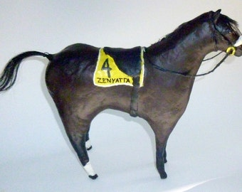 Zenyatta - Paper Mache Clay Racehorse Sculpture