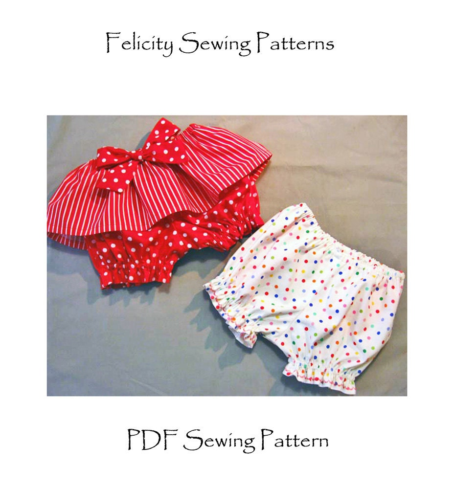 Baby sewing pattern Fancy Pants Bloomers for by FelicityPatterns