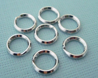 20pcs 7mm 925 sterling silver split jump ring charm connector R17s