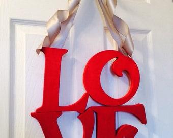 Valentines Day Wreath, LOVE Wreath, NEW Valentines Decor, Wedding Wreath