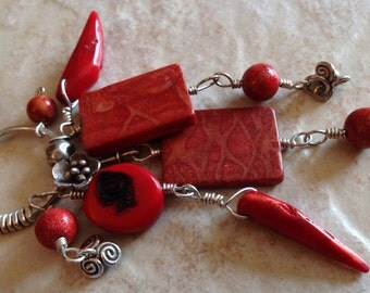 Handmade Red Coral Necklace
