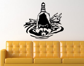Racoon Animal Vinyl Wall Art Graphic Decal
