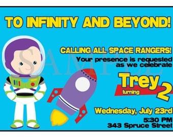 Buzz Lightyear Birthday party Invitation