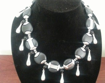 Tear Drop Beaded Necklace