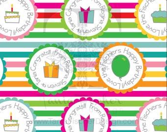 Cupcake and presents Customized Wrapping Paper/Papel de Envoltura Personalizado Cupcake