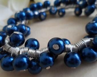 Midnight Blue Spiral Bracelet