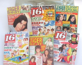 dollhouse  magazines tiger beat and 16 magazine x 6 miniature 12th scale