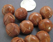 Vintage Leather Buttons Small Leather Vintage Buttons