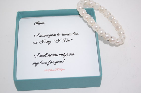 , Pearl Bracelet, Mother of the Groom gift,Wedding Gift, Sentimental ...