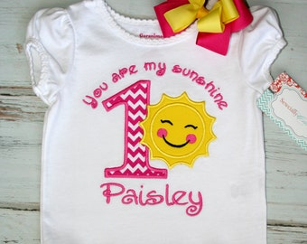 Shirt and Bow - you are my sunshine