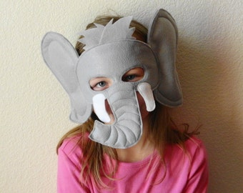 Kids Felt Zoo Animal Mask