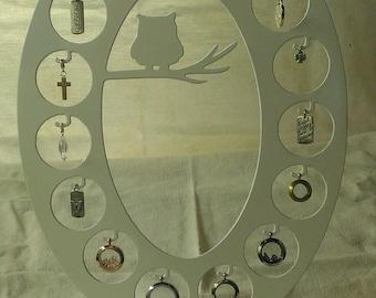 15 Owl Locket Display