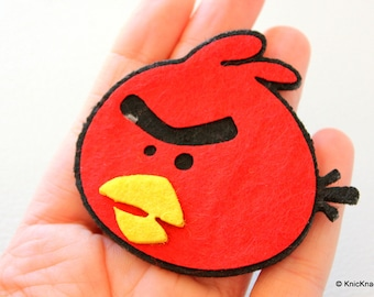 The Red Bird Angry Bird Felt Applique Patch