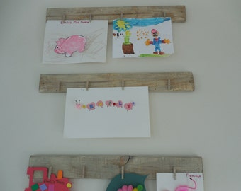 Set of three Wooden photo display boards / pallet wall / farmhouse decor/ shabby chic wall hanging