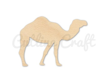 Camel 5 Style 1632 Cutout Crafts, Gift Tags Ornaments Laser Cut Birch Wood Various Sizes
