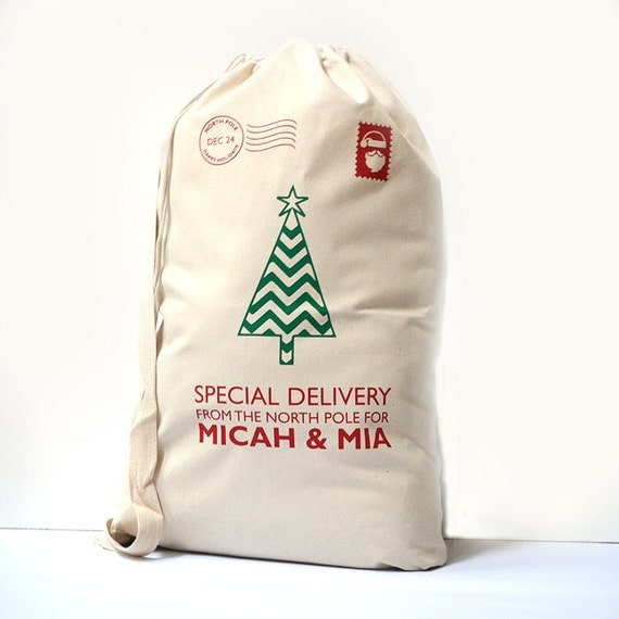 Personalized Santa Sack for Kids on Christmas Day. Personalized Santa ...
