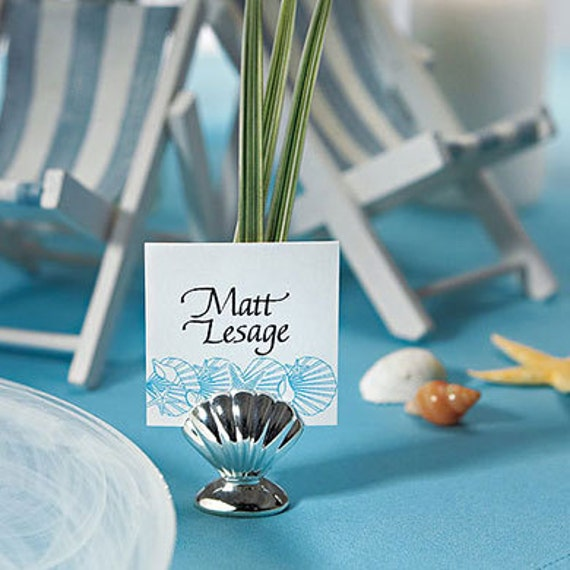 items similar to silver sea shell place card holders 8. Black Bedroom Furniture Sets. Home Design Ideas