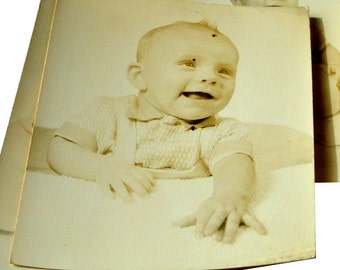 Sepia Baby Photographs, Vintage Ephemera, Scrapbooking, Card Making, Paper Crafts