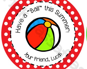 Have a Ball This Summer School Gift Tags
