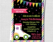 Roller Skate Birthday Invitation - Roller Skating Themed Party - Digital Design and Printed Invitations - FREE SHIPPING