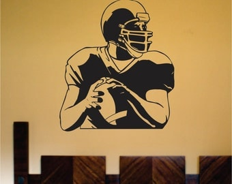 Football Player Version 122 Quarterback Vinyl Wall Decal Sticker Decals Stickers Art Graphic