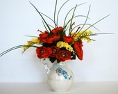 Orange and Yellow Fall Silk Floral Arrangenment