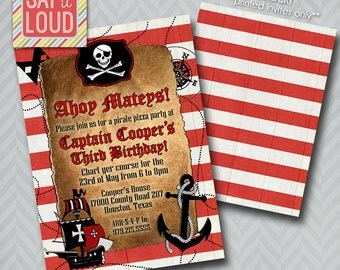 Custom Pirate Party Invitation