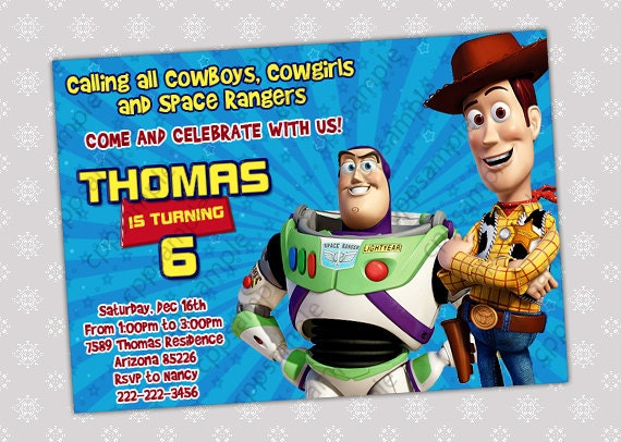 Toy Story Birthday Invitation Wording is perfect invitations example